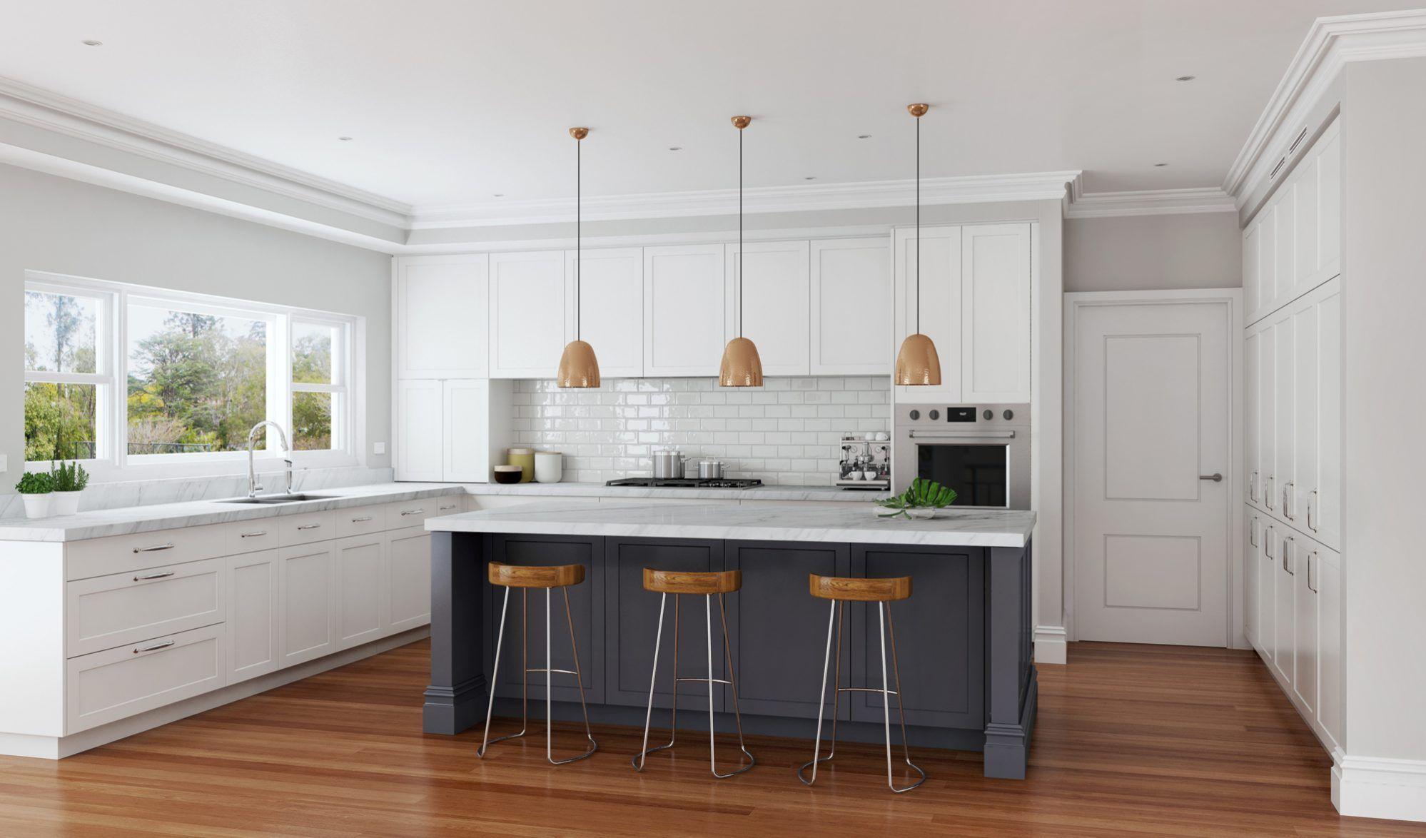 Shaker Style Kitchen Designs Sydney In 2020 Kitchen Design