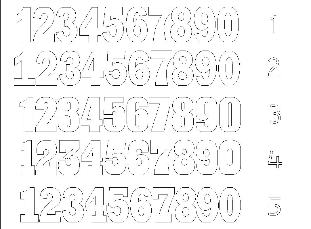 Set Of 2 Numbers Giant Numbers 30 Inch 3d Numbers Large