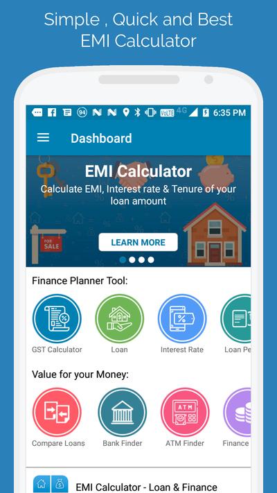 Emi Calculator Loan Finance Planner In 2020 Finance Planner Finance Loans Finance