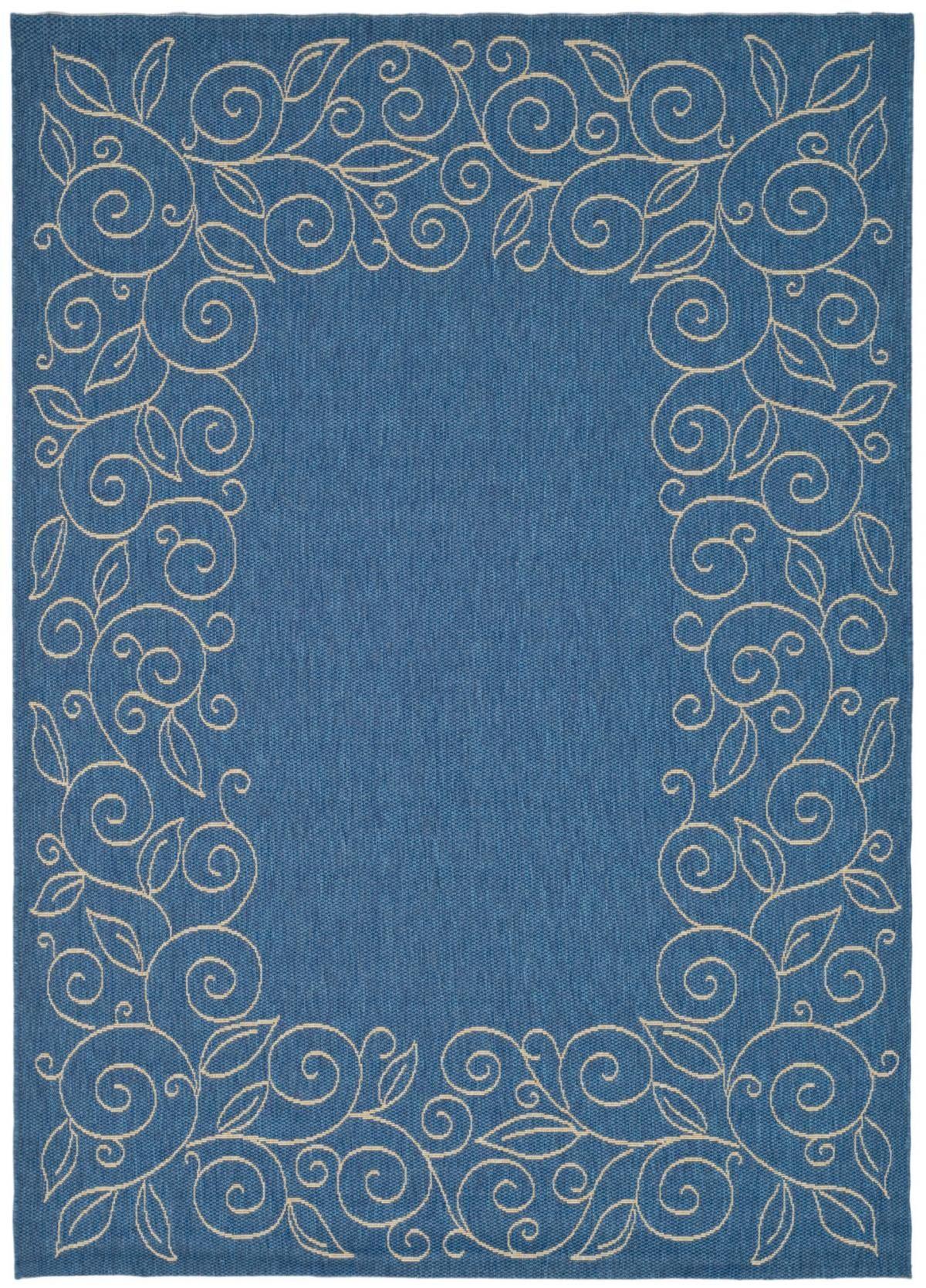 Vine scroll patio carpet power loom indoor outdoor rugs and patios cy5139c bedroom rugsblue baanklon Gallery