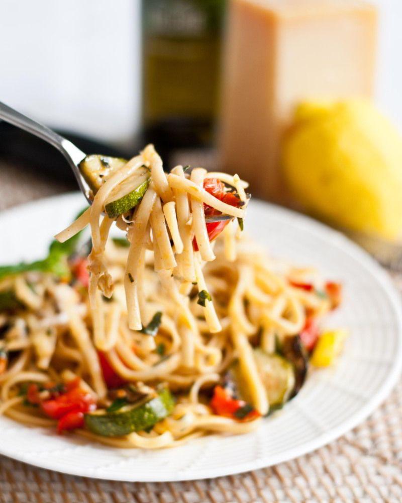 Pasta Con Verduras Revista Cocina Receta Pasta Con Verduras Macarrones Con Verduras Espagueti Con Verduras