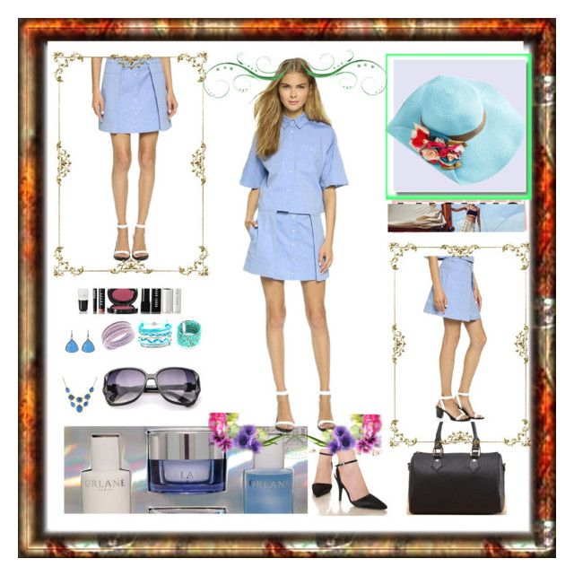 """Denim jeans"" by ane-twist ❤ liked on Polyvore featuring Orlane, Bobbi Brown Cosmetics, Swarovski, Domo Beads and 1928"