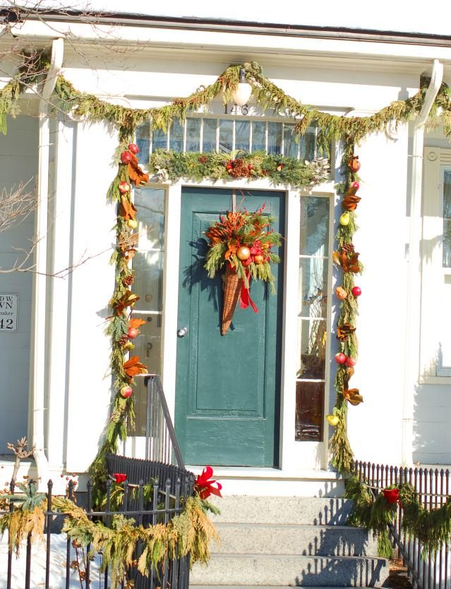 The Tricks To Hanging Garland Around A Door Christmas Hanging