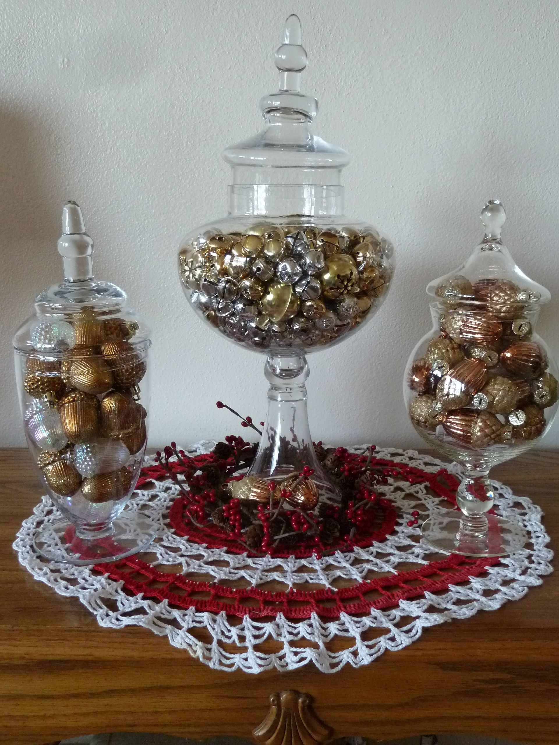 Apocathery Jars Filled With Jingle Bells Amp Acorns