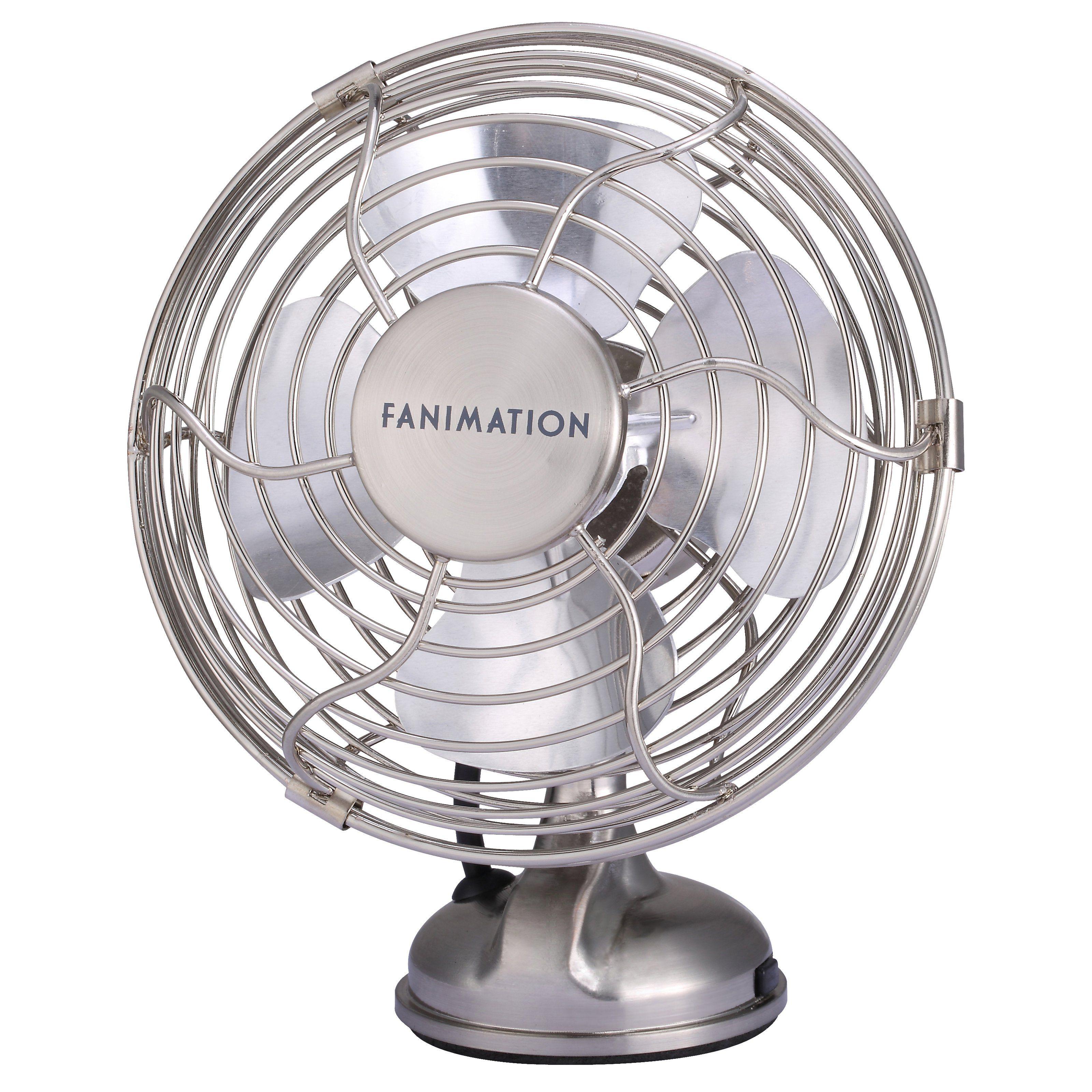 Fanimation Mini Breeze Fp6252bn 5 In Table Fan From Hayneedle