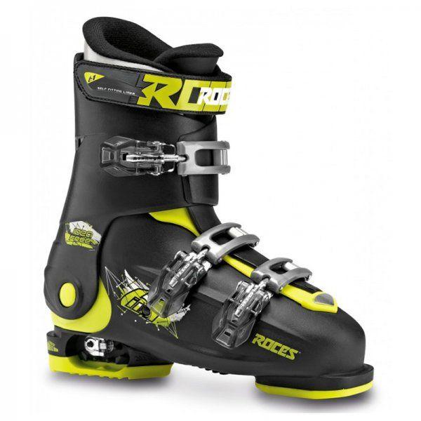 6437d8b363e7 Roces Idea Free Black Lime - adjustable ski boots for kids Ice Skating