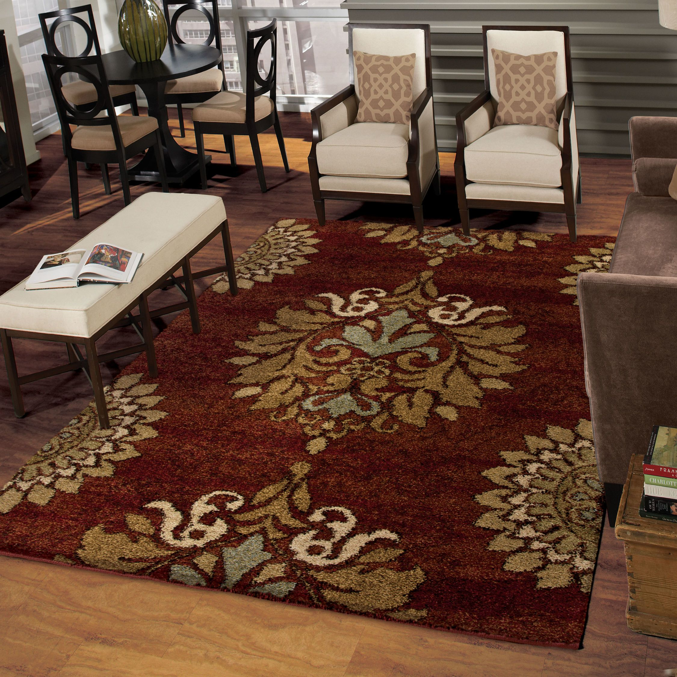 Jacquline Color Rouge Size 7 10 X 10 10 Area Rugs Plush Area Rugs Orian Rugs
