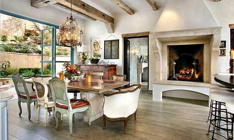 Fireplace Beams Floors Glass Doors Wow Dining Room Design Home Luxury Homes