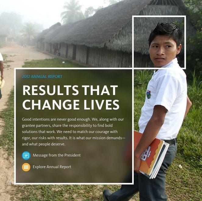 Six inspiring nonprofit online annual reports Annual reports - free annual report templates