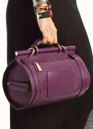 buckle strap cylinder bag by viola