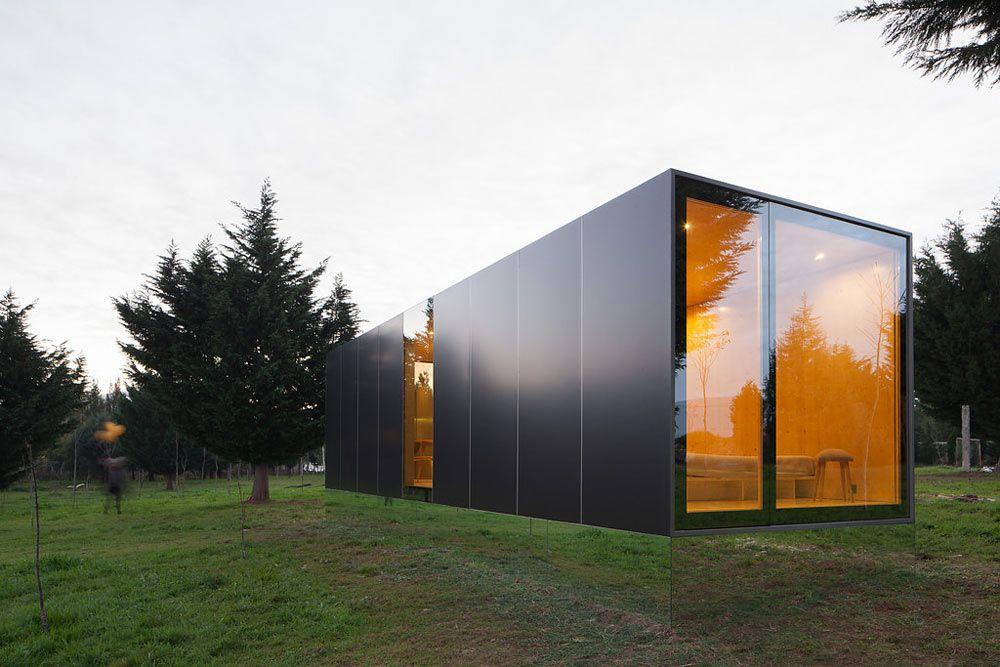 Kleine Prefab Woning : Prefab woning met veel glas gevel container häuser