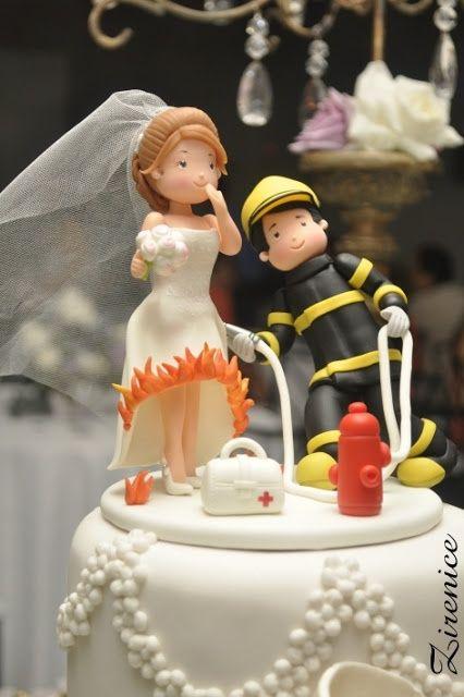 23++ Fireman firefighter wedding cake topper inspirations