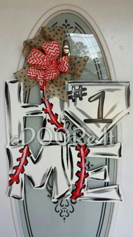Home - baseball door decoration | My home | Pinterest ...