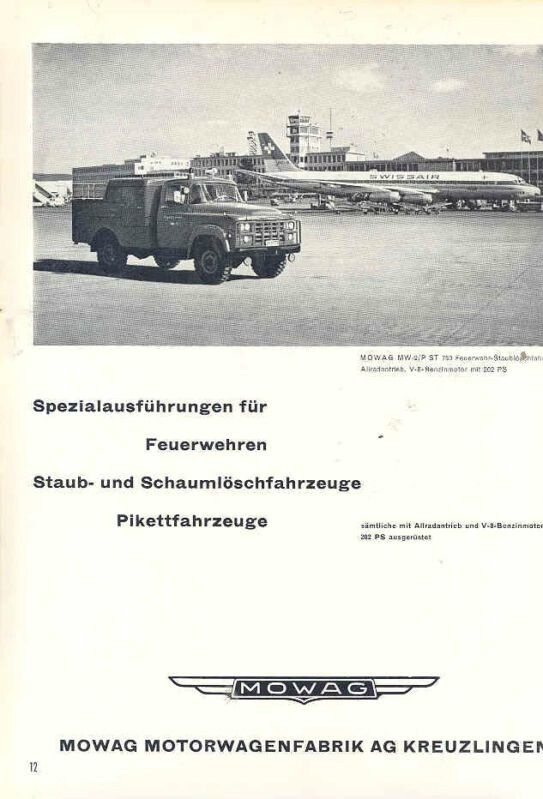 Mowag Airport Crash Truck Advert