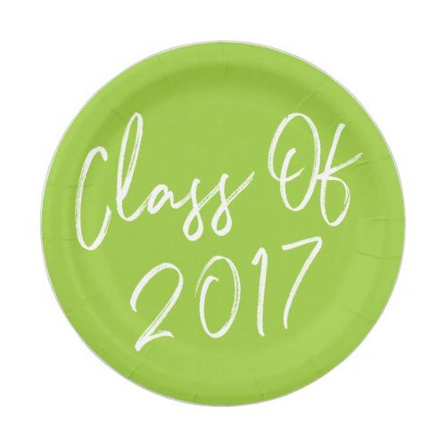 sc 1 st  Pinterest & Modern Class of 2017 Graduation Paper Plates