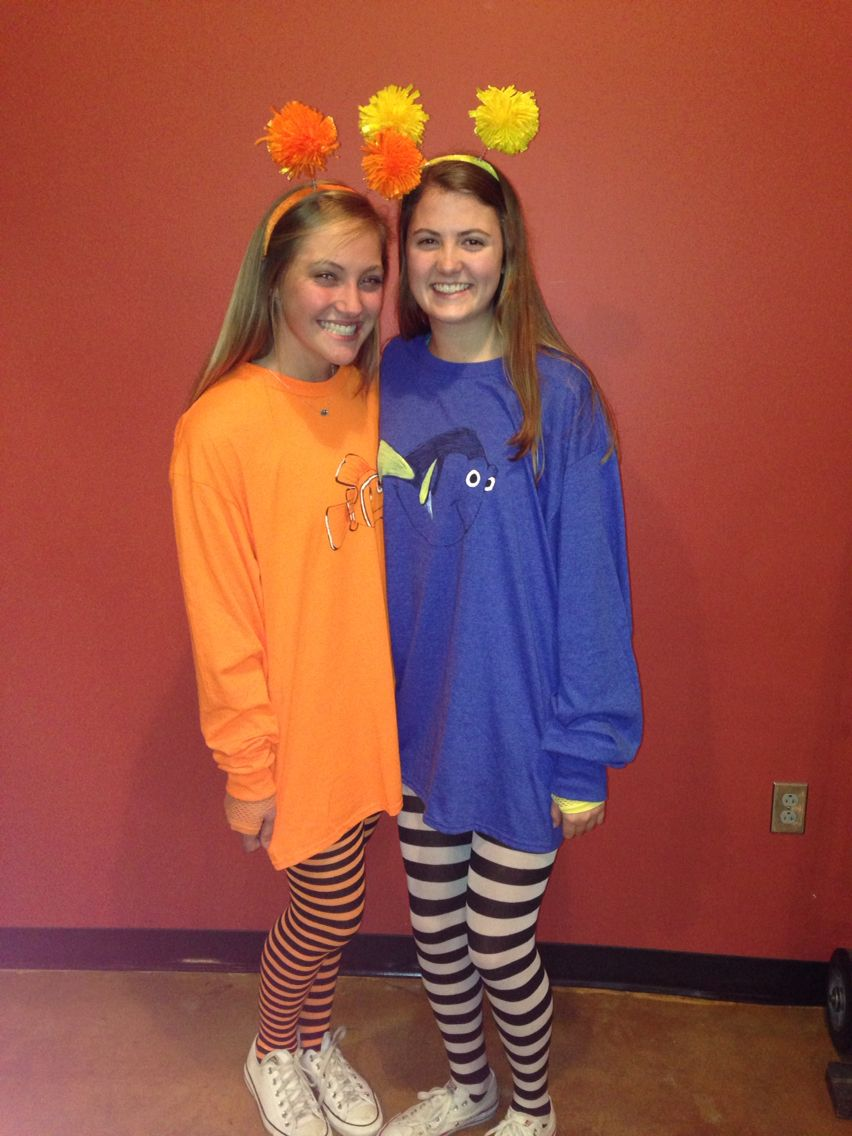 Nemo and Dory halloween costume! - Nemo And Dory Halloween Costume!! Dory And Nemo Pinterest