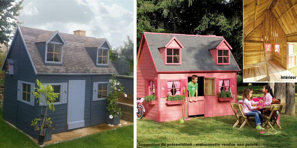 Maisonnette en bois lalie - Cabane en bois enfant castorama ...