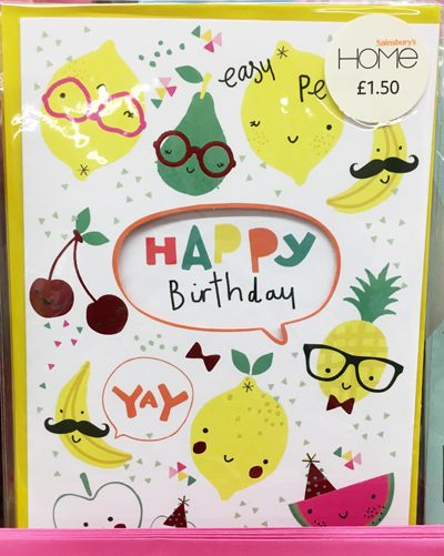 Print Pattern Greetings Cards Sainsbury S Home Greeting Card Design Cards Fruit Illustration