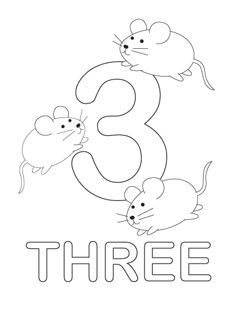 number 3 coloring pages. free printable number coloring pages  perfect for the dr s office waiting at a restaurant