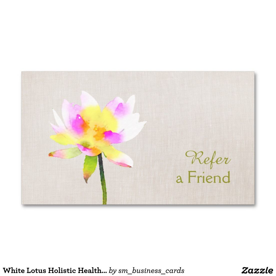 White Lotus Holistic Health Referral Card - perfect for massage ...