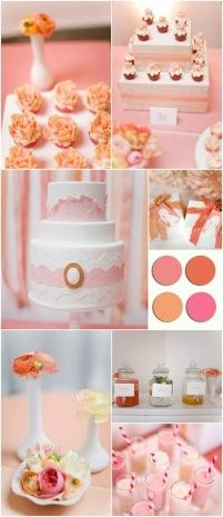 coral wedding favors