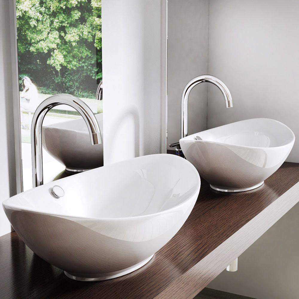 Details Zu Aufsatzwaschbecken Waschbecken Oval Waschtisch