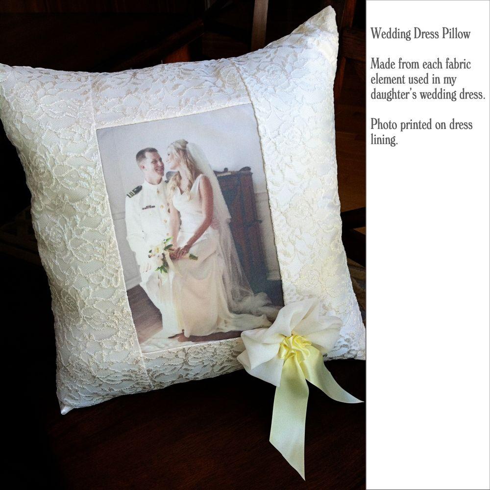 Repurpose wedding dress  Wedding dress pillow  Crafty  Pinterest  Wedding dress Pillows