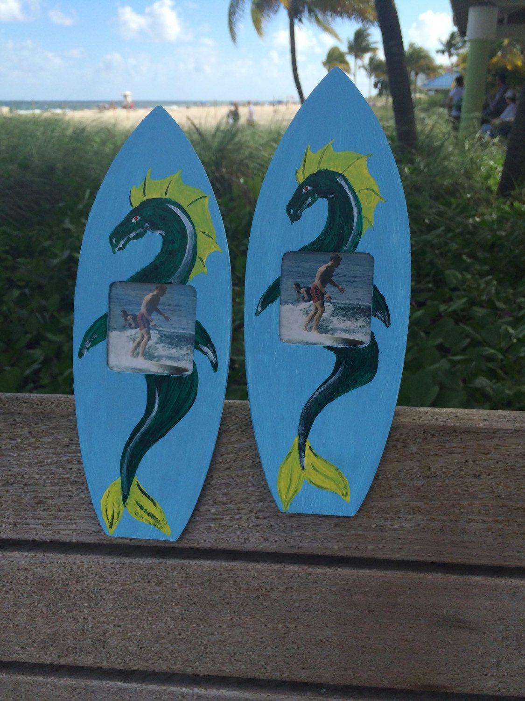 Dragon picture frame nautical frame sea dragon frame surfboard ...