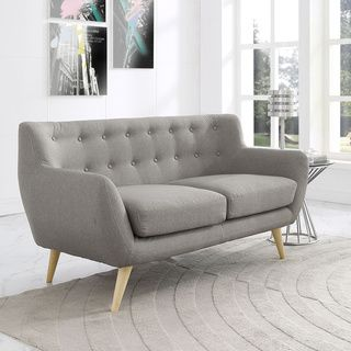 Mid Century Modern Love Seat Living Room Furniture - Assorted Colors ...