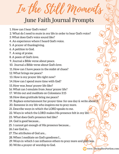 in the still moments  june journal prompts