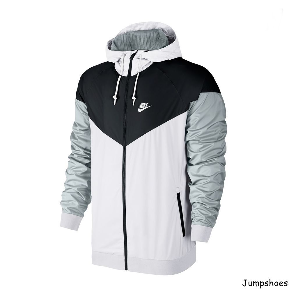 279b506f8e Nike Air Windbreaker Jacket white black grey NEW 727324-101 ...