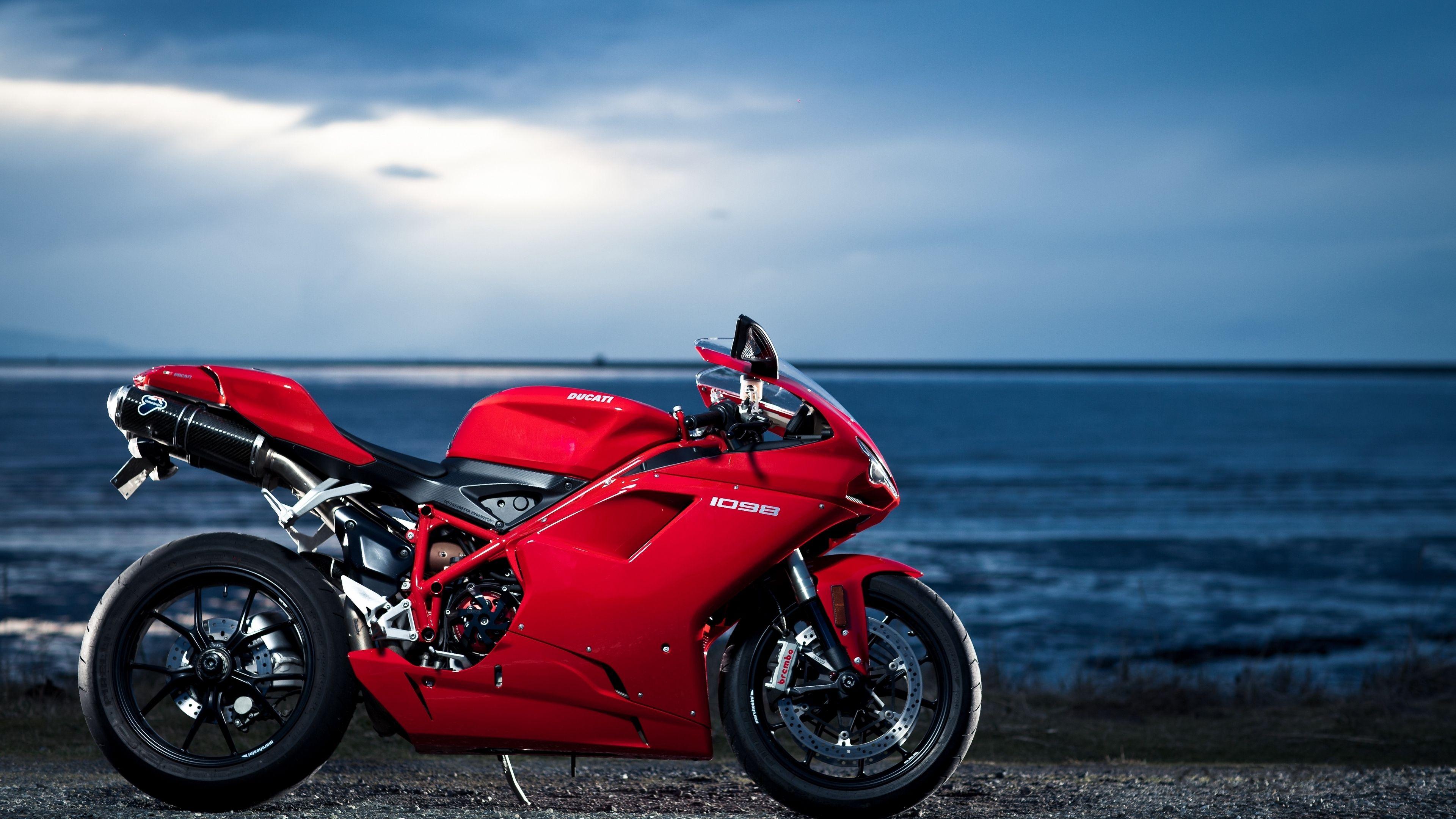 Ducati 1098 Motorcycle Sea Red 4k 4k Hd Wallpapers Ducati Ducati Motorcycles Ducati 1098s