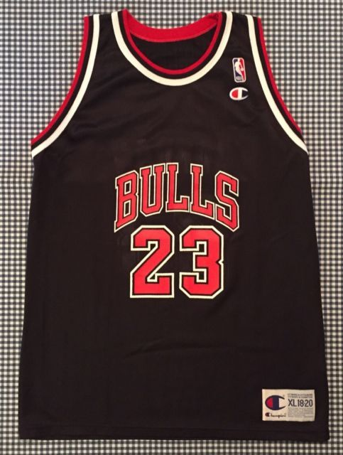 fd1c24af3d91 Vintage Michael Jordan Chicago Bulls Champion Replica Jersey Size Youth  X-Large