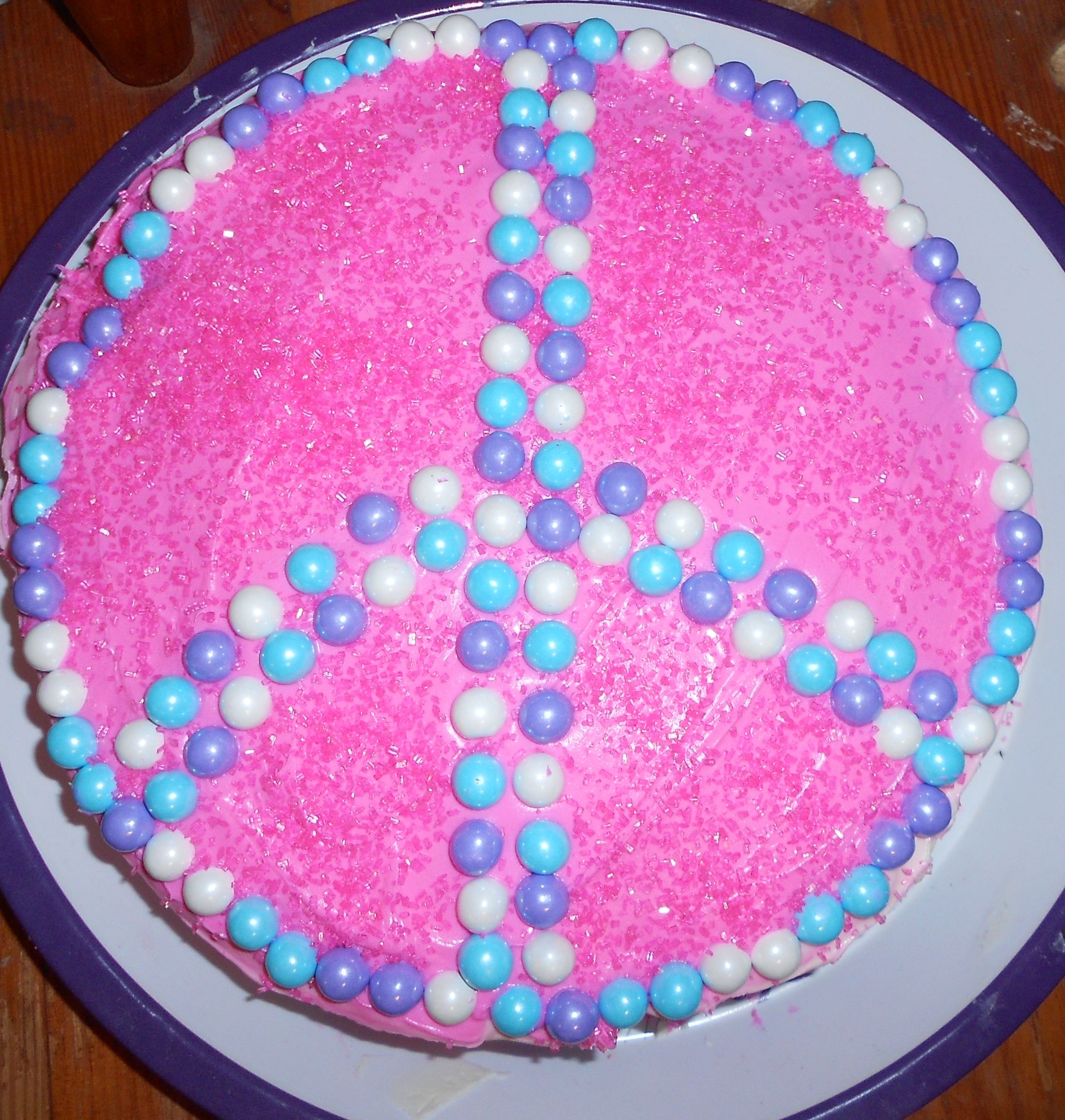 Girls cake, Birthday Cake , Fast and easy cake ! very cute ...
