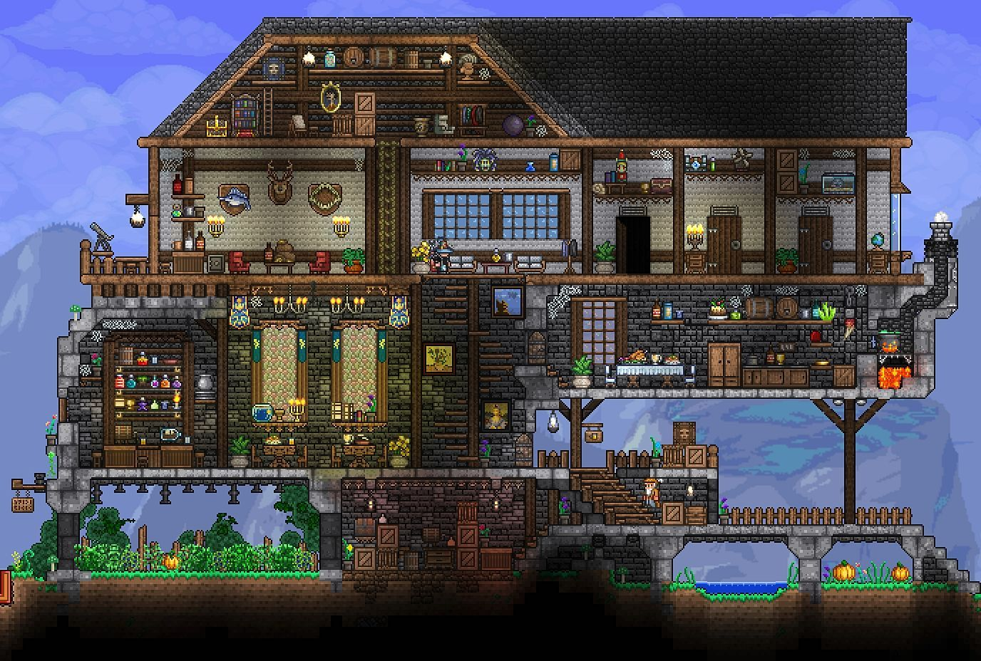Pin By Debra Taylor On Terraria Terraria House Ideas Terraria