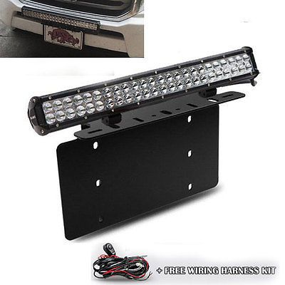For Ford Truck Car 126w Led Light Bar Usa Front License Plate Mount Bracket Front License Plate Bar Lighting Led Light Bars
