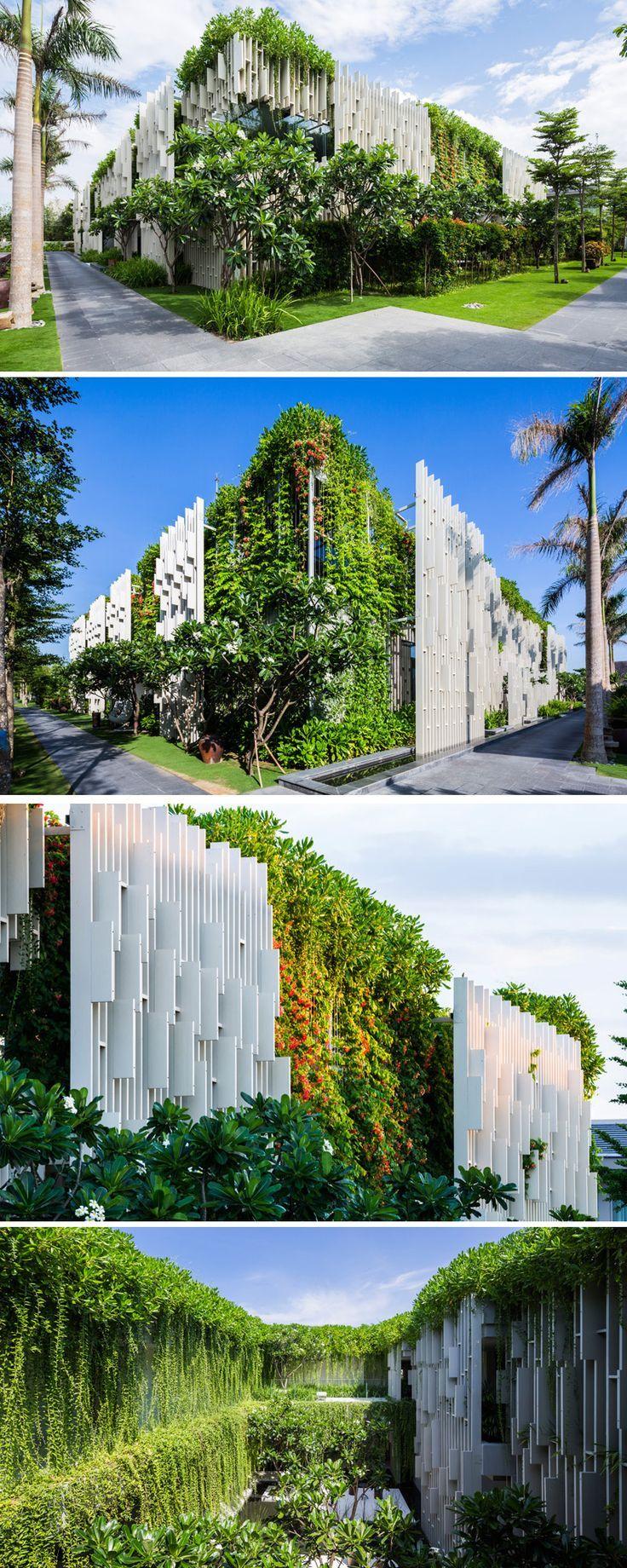 This new resort spa is covered in hanging gardens arch pinterest architektur gr ne - Grune architektur ...