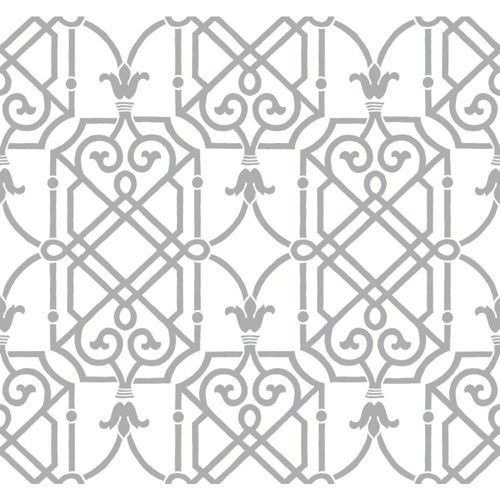 Ashford Black, White And Gleaming Silver Wallpaper York Wallcoverings Wallpaper…