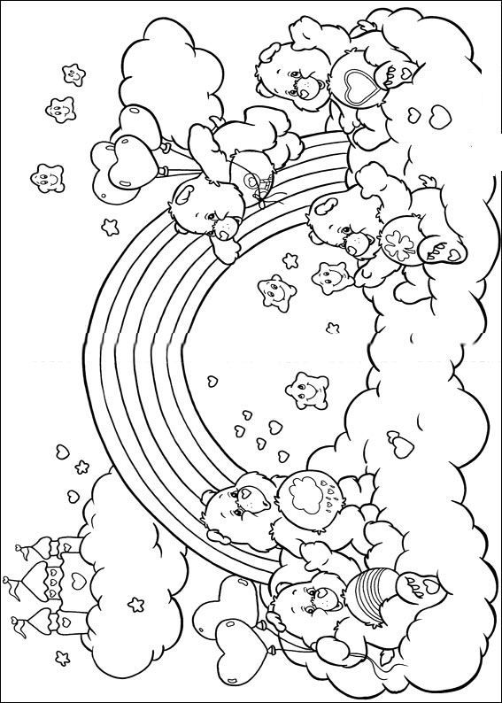 Free Printable Coloring Page Care Bears Care Bears