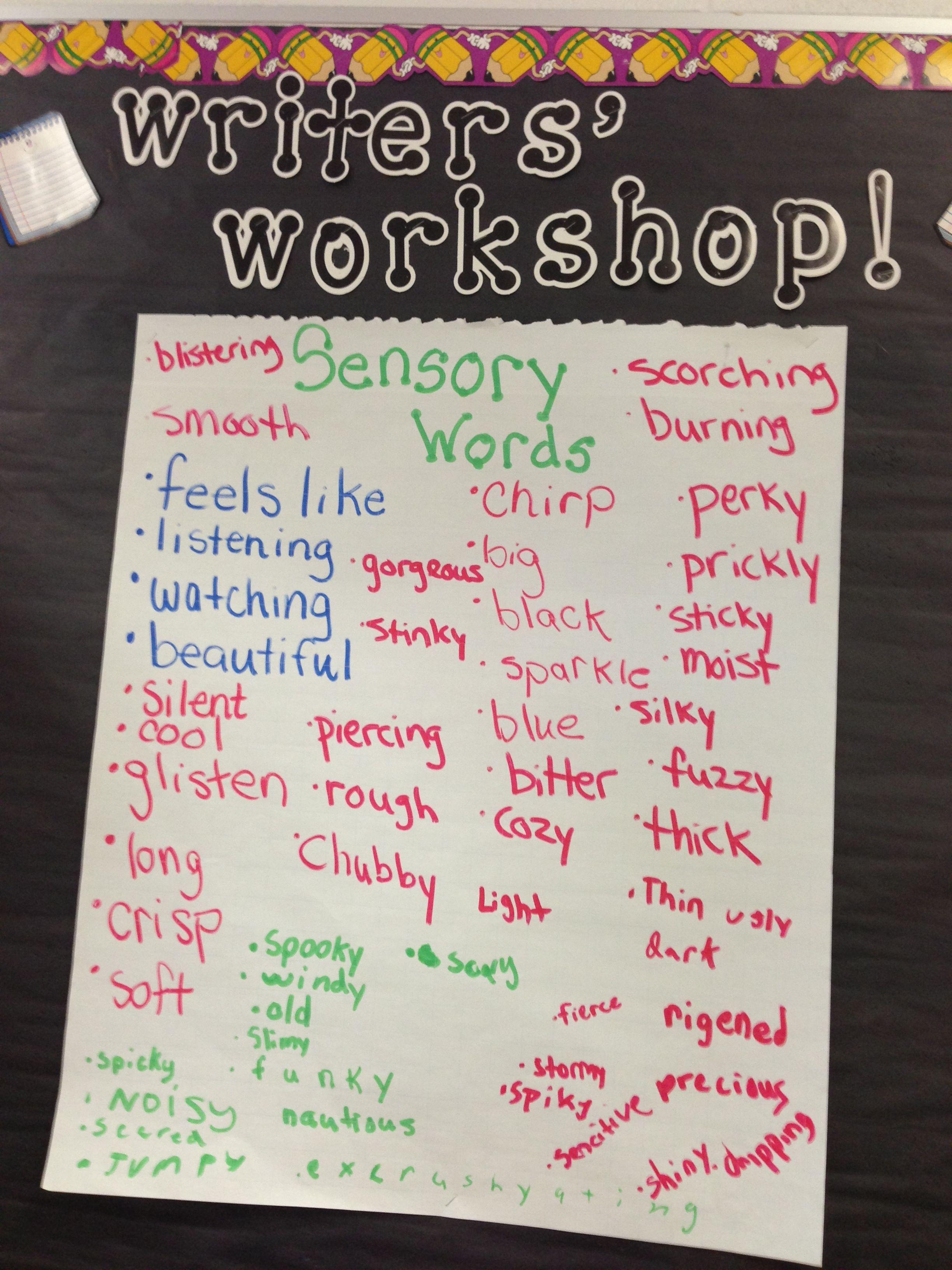 Sensory Word Bank