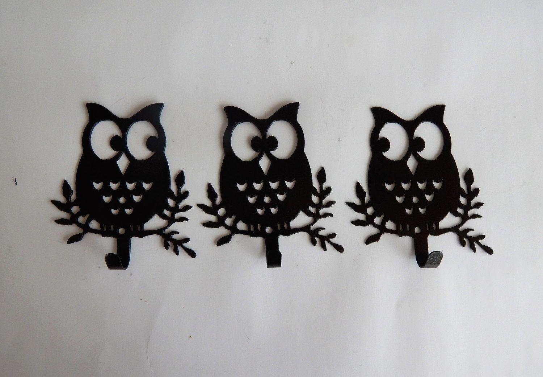 wall hook,owl,set of 6,wall decor,fun,bedroom,kitchen,bathroom