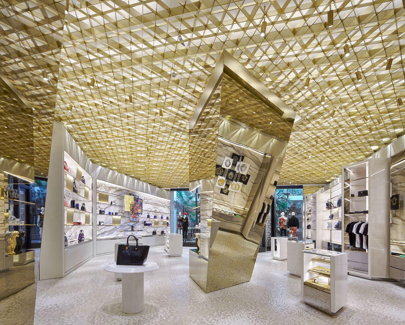 Versace Bal Harbour Showroom Interior Design Bal Harbour Shops Design