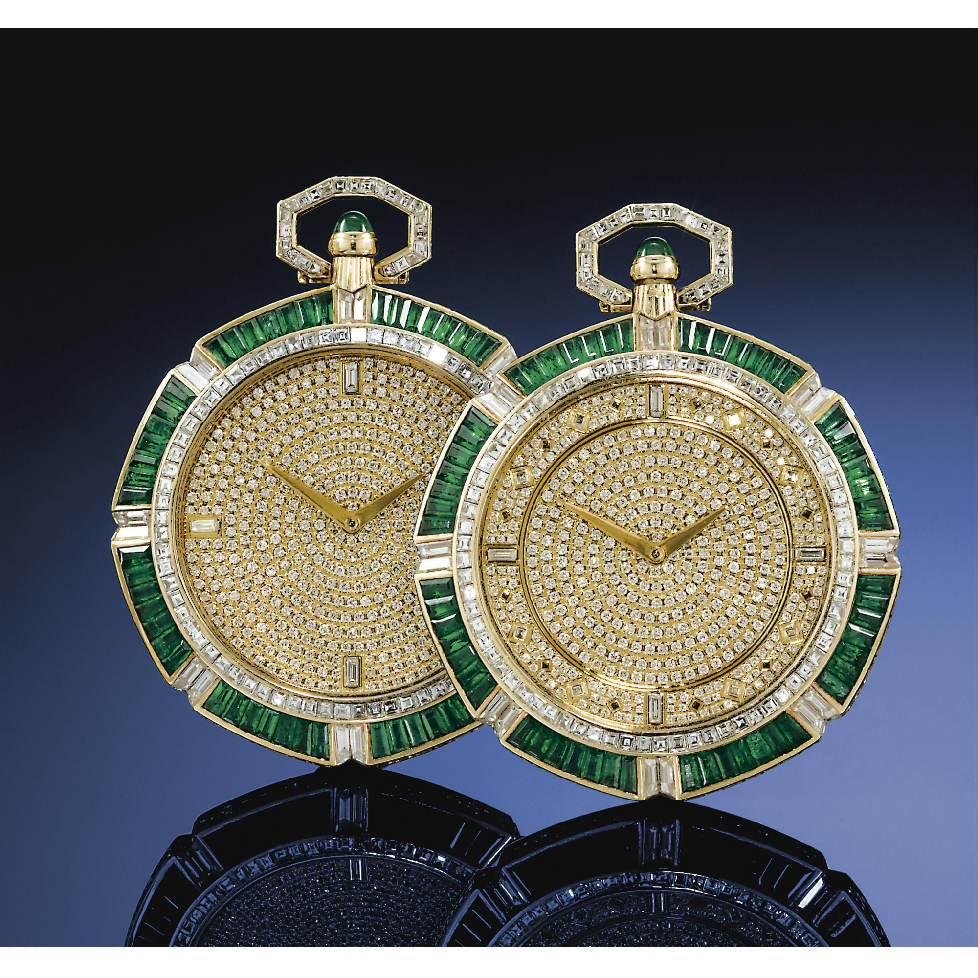 watch pave white thousand vintage emerald watches piaget in diamond gold