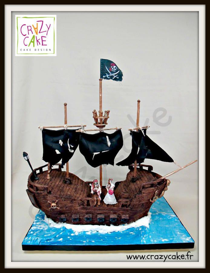 Black Pearl 3D wedding cake - Cake by Rachid Braik