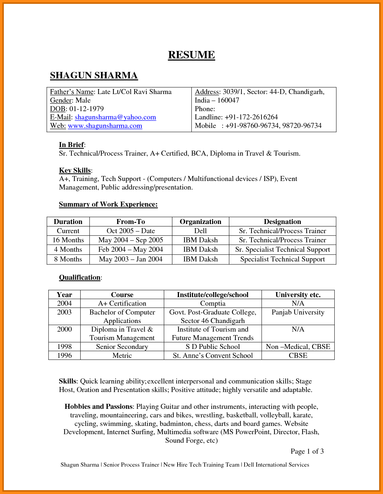 resume format pdf for freshers 100 images academic writing thesis