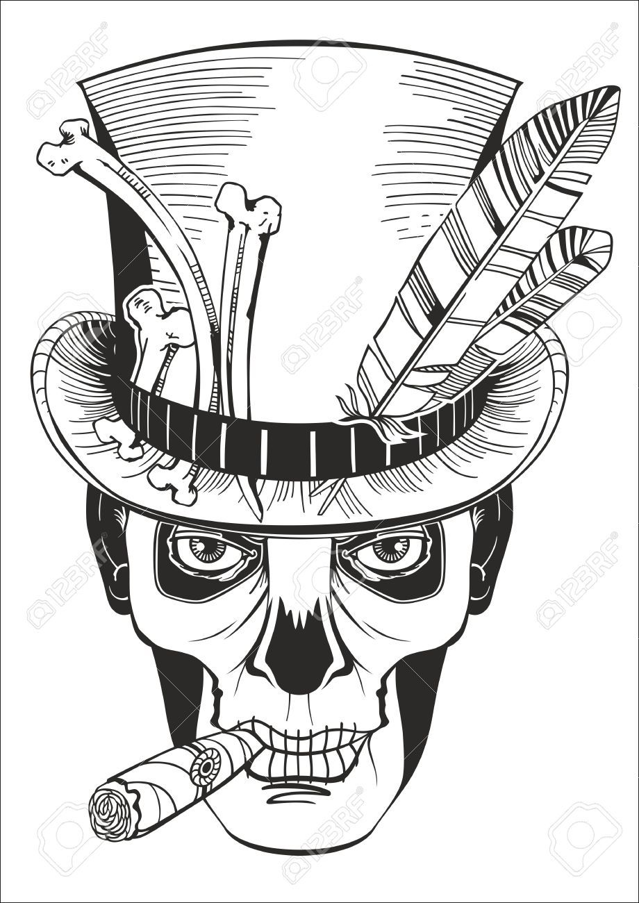 Day Of The Dead Baron Samedi Vector Illustration Tattoos