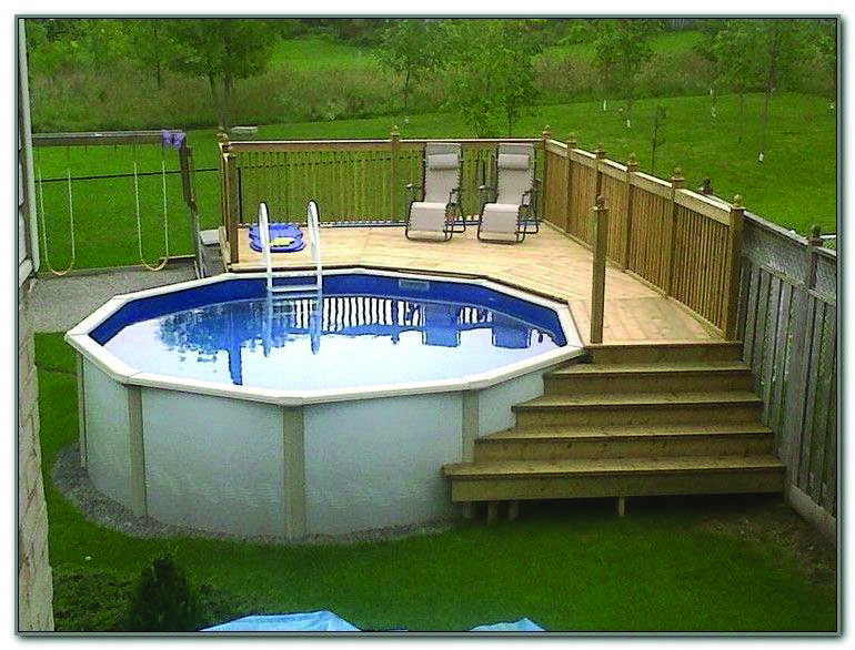 diy above ground pool deck plans