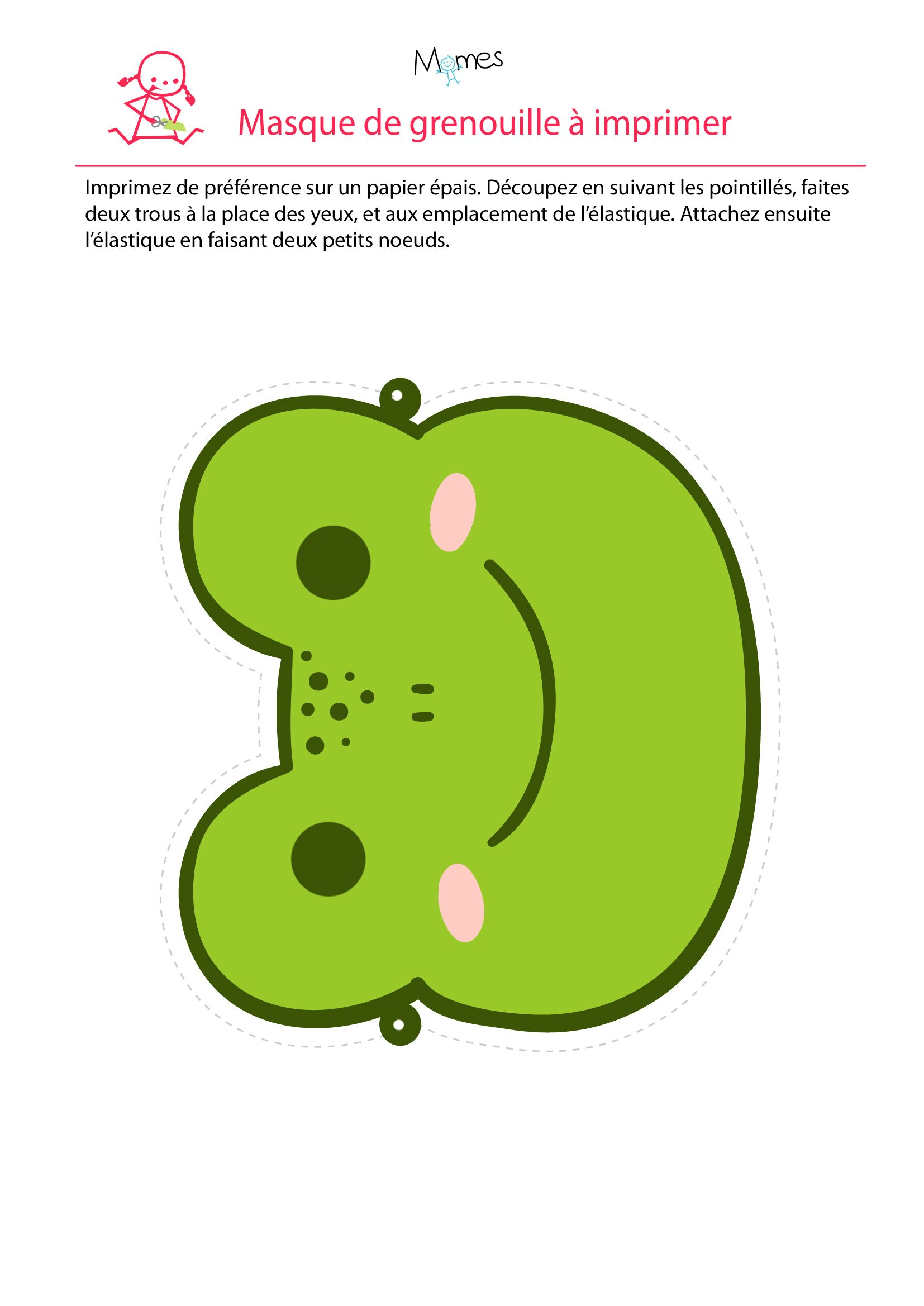 Masque de grenouille   Frogs and Mardi gras