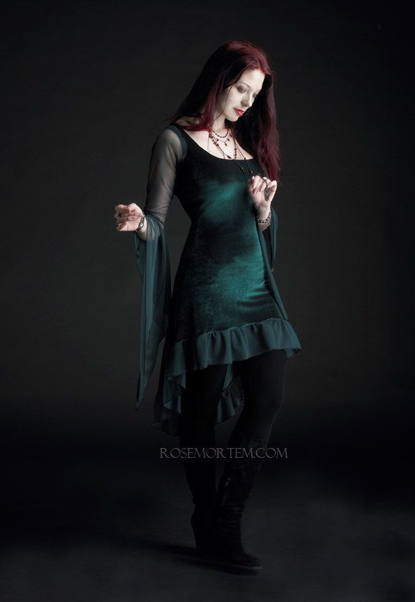 6a1fb31892071 Nixie Faerie Dress in Velvet - Custom Romantic Gothic and Faerie Clothing.   149.00