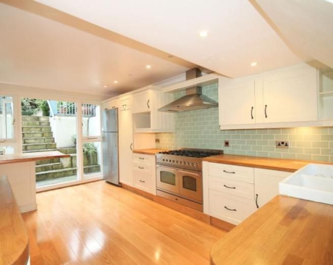 Best Image Result For Cream Kitchen With Blue Tiles And Wooden 400 x 300